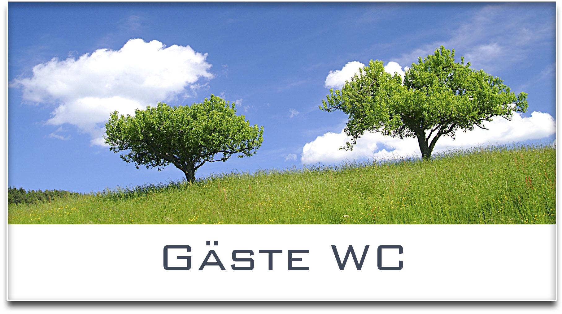 Türschild / Haustürschild / Bäume / Gäste WC / Selbstklebend
