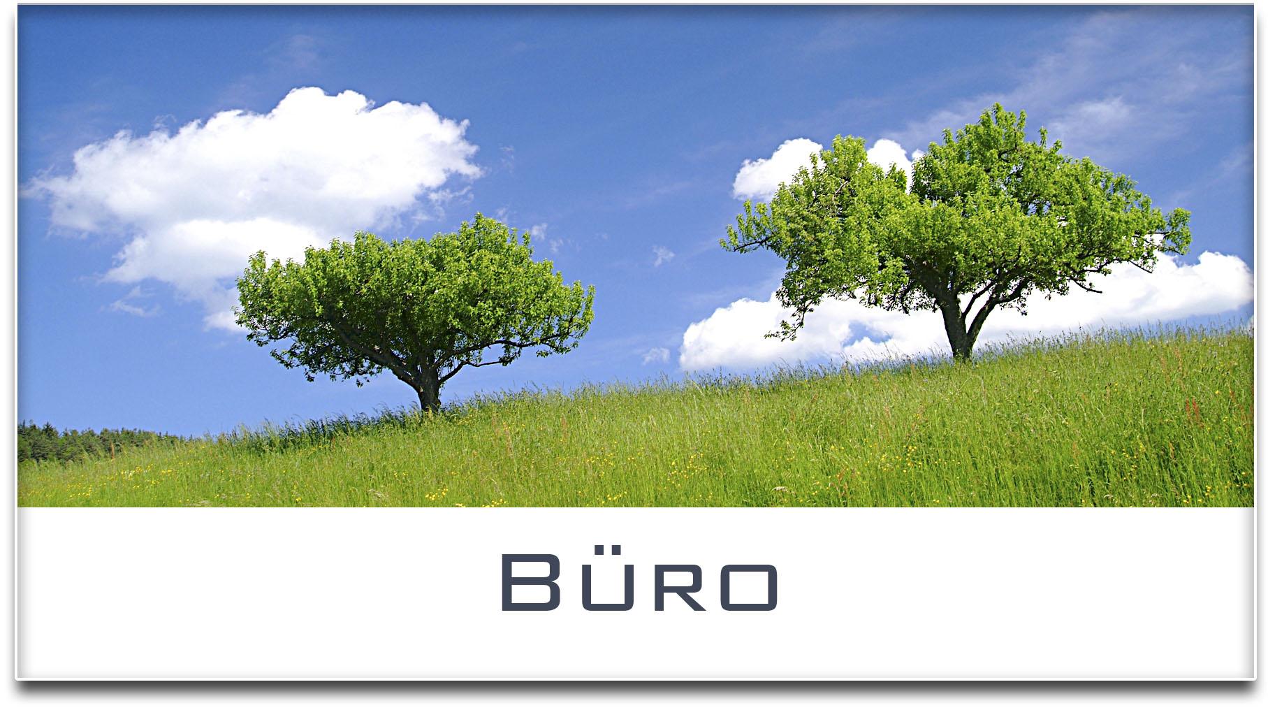 Türschild / Haustürschild / Bäume / Büro / Selbstklebend