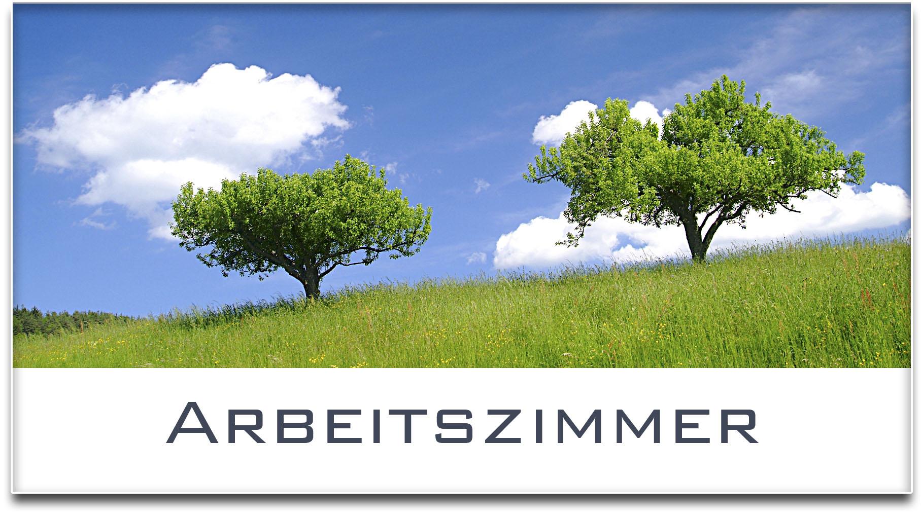 Türschild / Haustürschild / Bäume / Arbeitszimmer / Selbstklebend