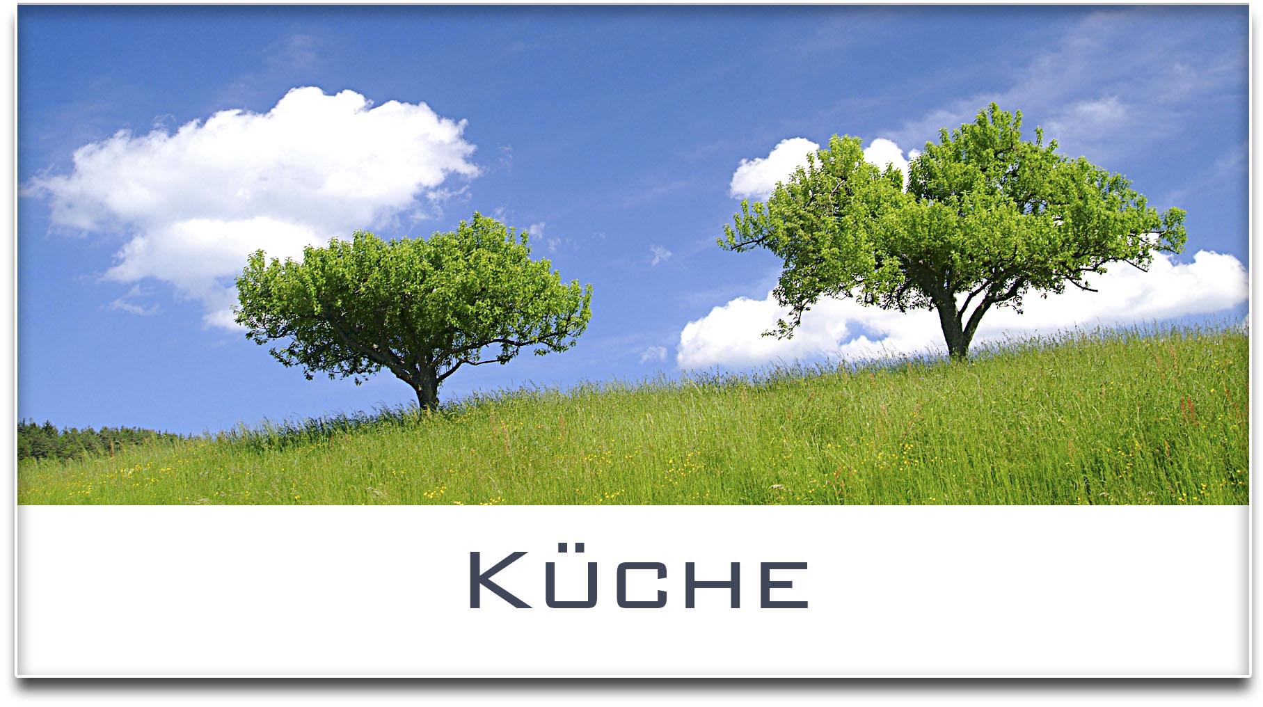 Türschild / Haustürschild / Bäume / Küche / Selbstklebend