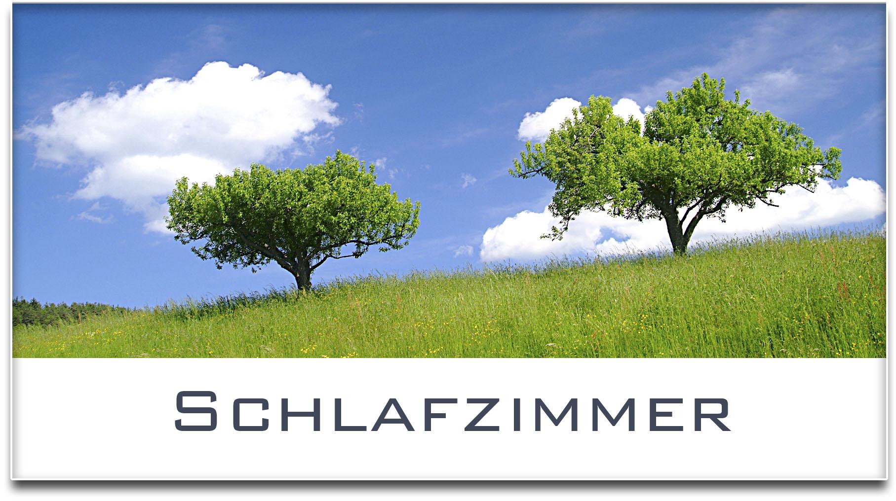 Türschild / Haustürschild / Bäume / Schlafzimmer / Selbstklebend