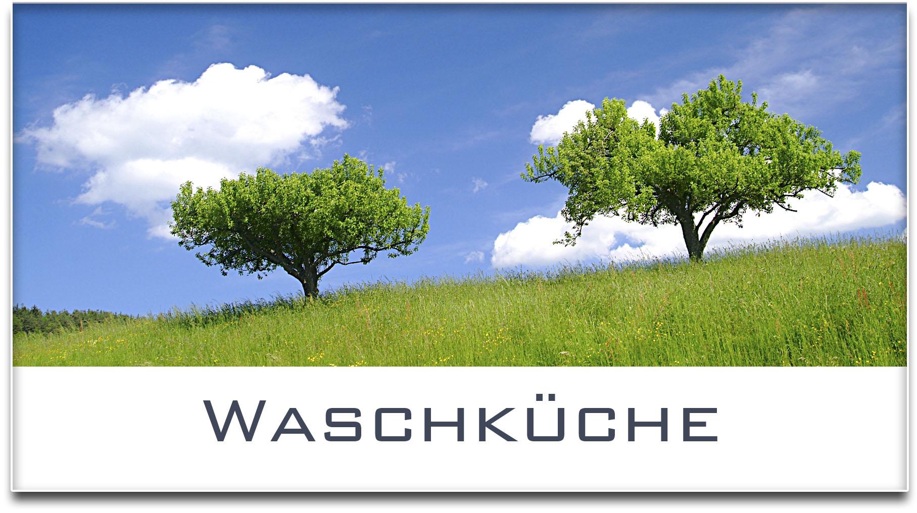 Türschild / Haustürschild / Bäume / Waschküche / Selbstklebend