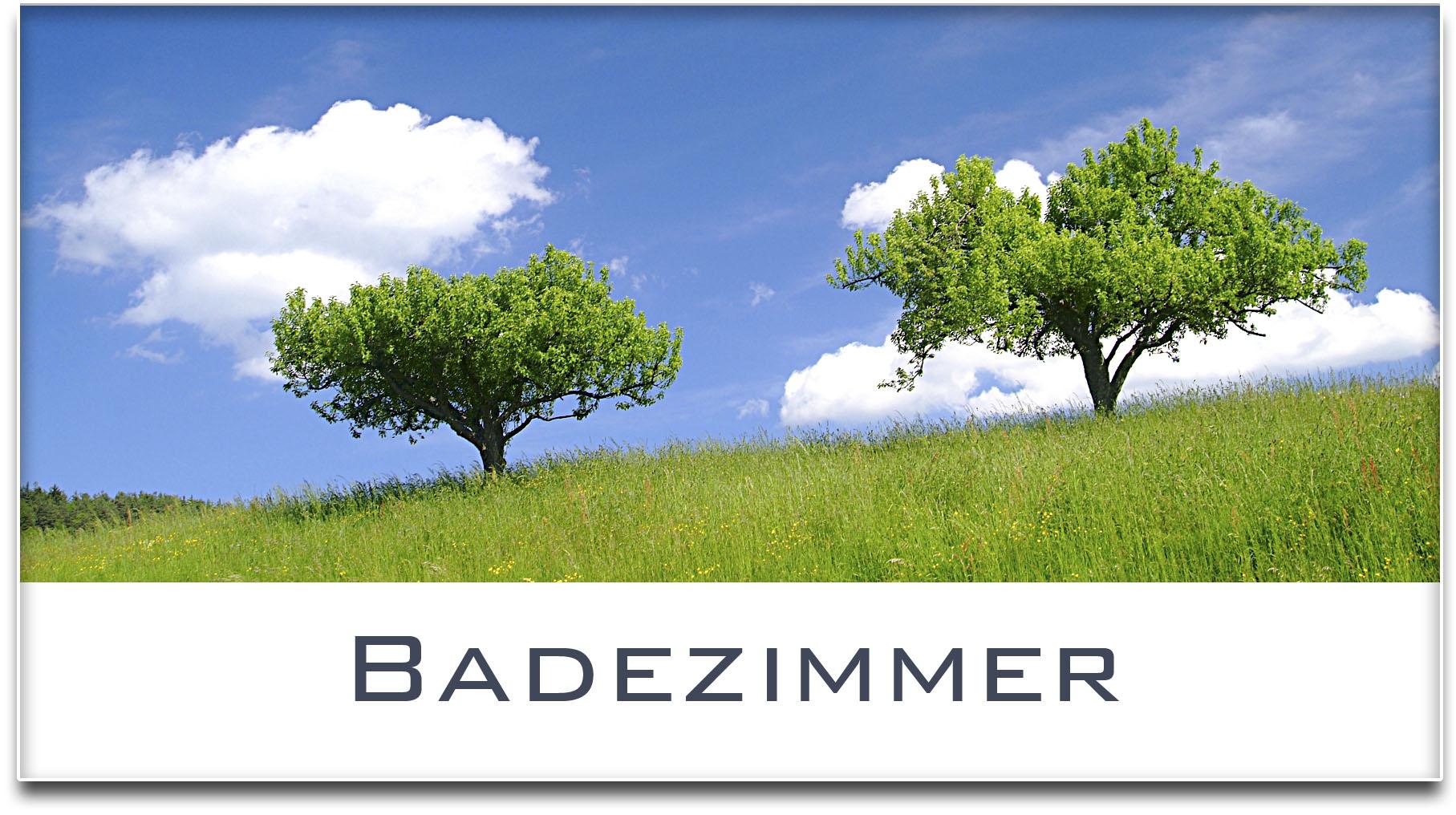 Türschild / Haustürschild / Bäume / Badezimmer / Selbstklebend