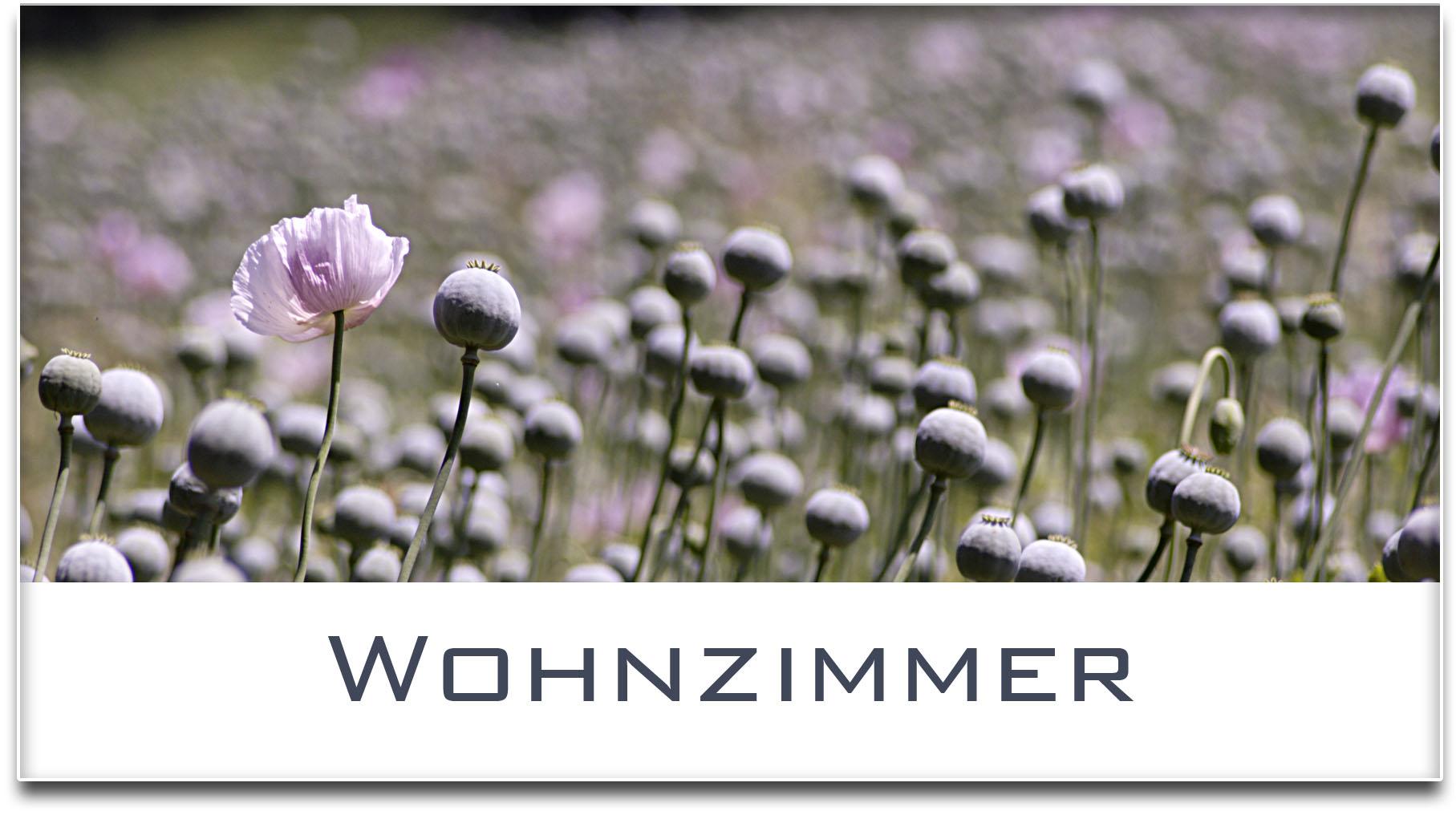 Türschild / Haustürschild / Mohnfeld / Wohnzimmer / Selbstklebend