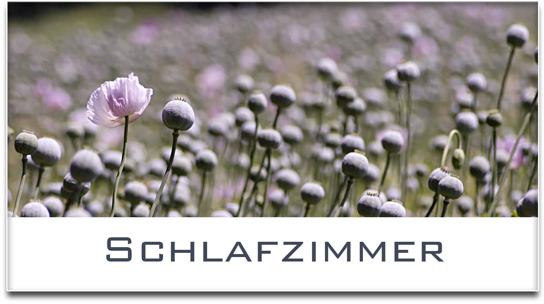 Türschild / Haustürschild / Mohnfeld / Schlafzimmer / Selbstklebend
