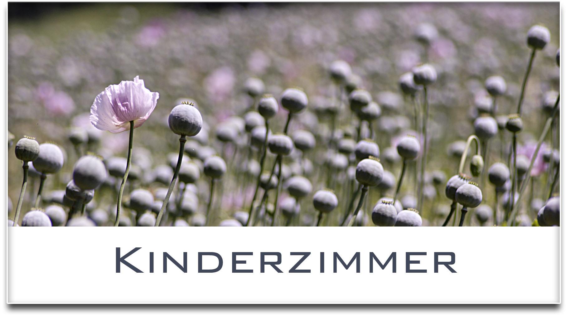 Türschild / Haustürschild / Mohnfeld / Kinderzimmer / Selbstklebend