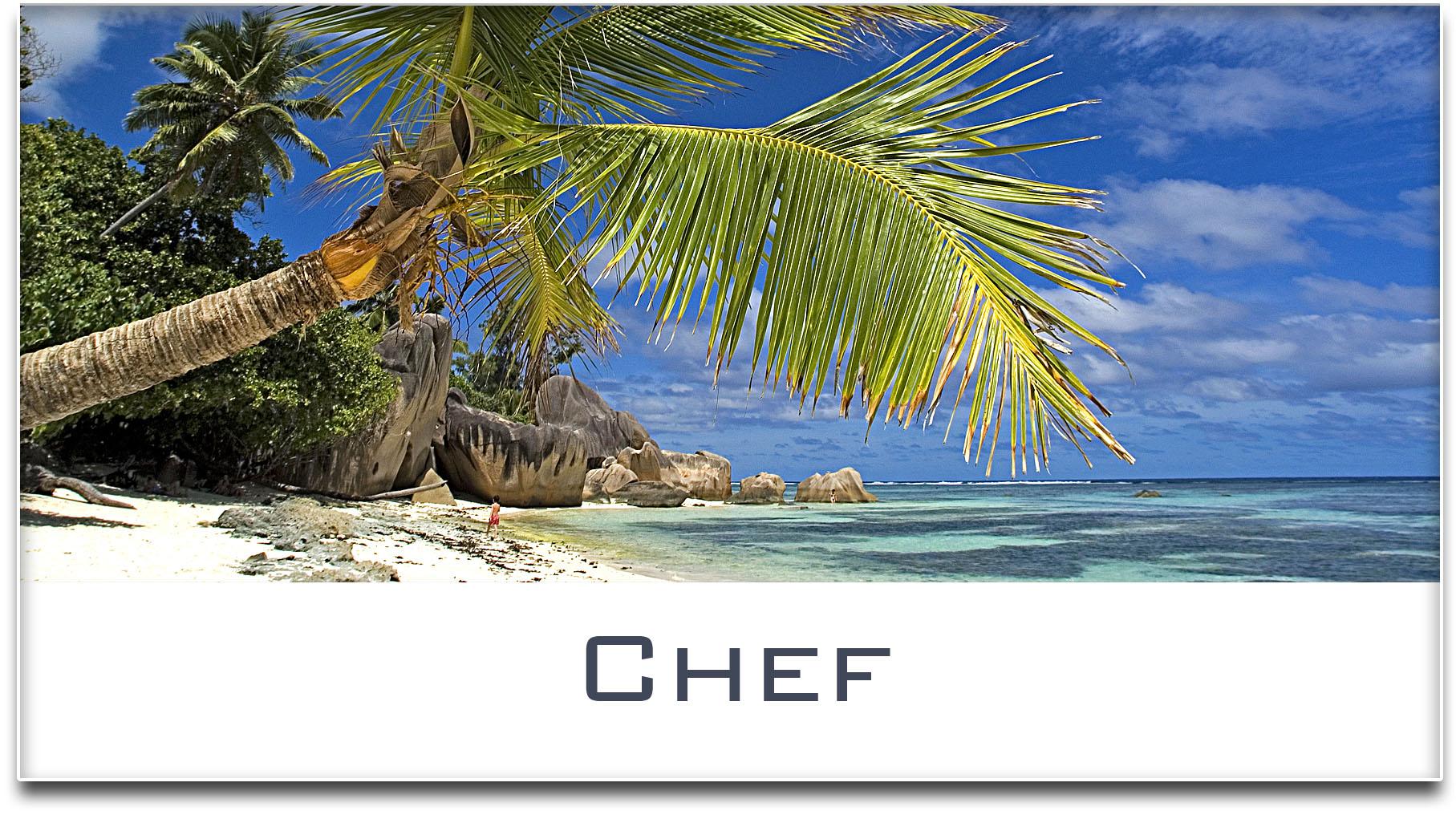 Türschild / Haustürschild / Palme / Strand / Chef / Selbstklebend