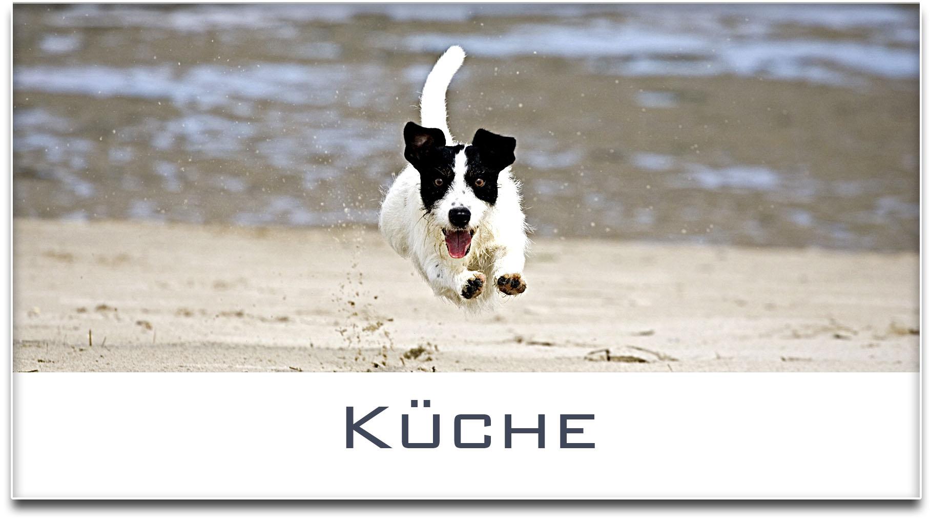 Türschild / Haustürschild / Jack Russel Terrier / Hund / Küche / Selbstklebend