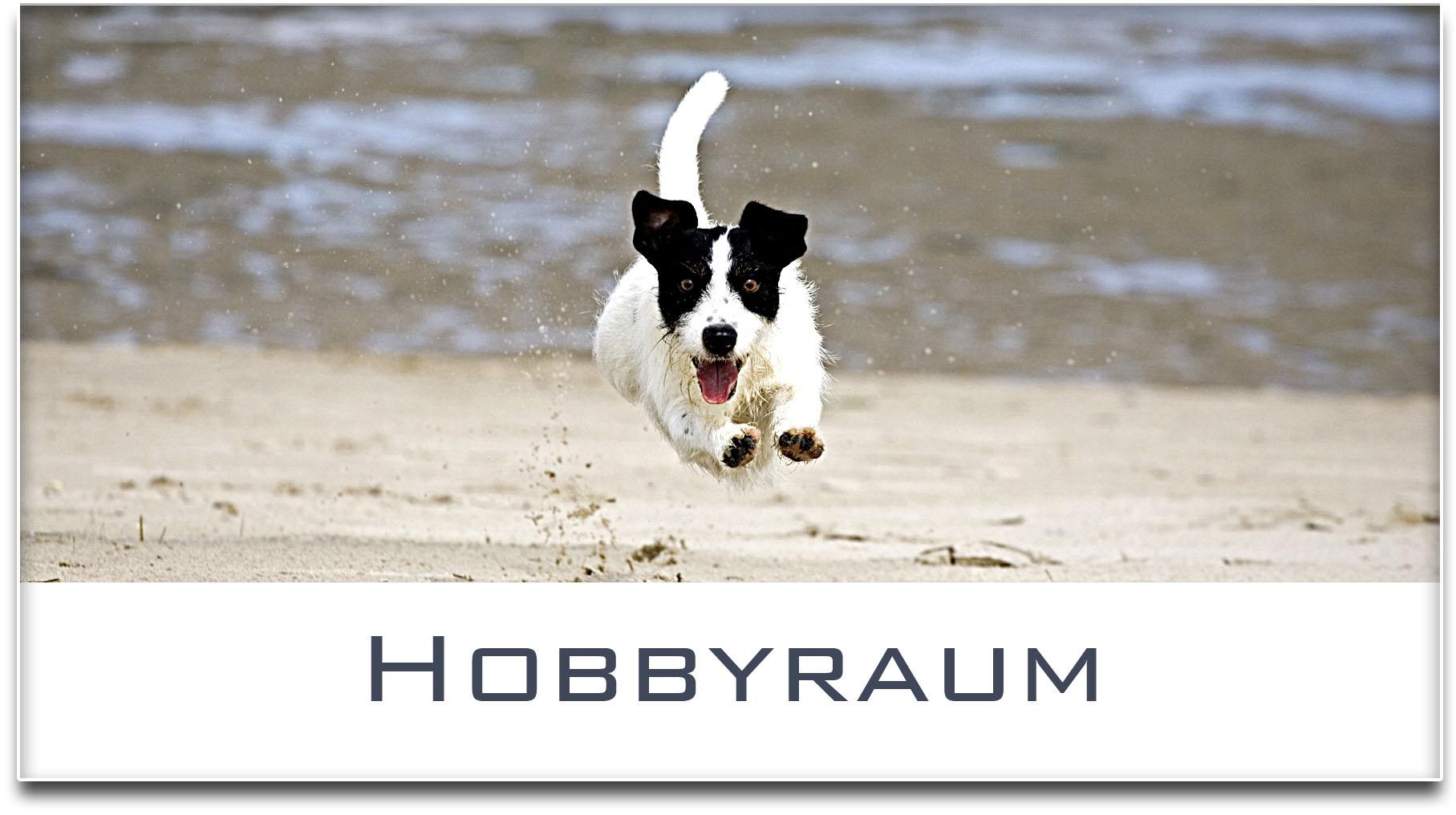 Türschild / Jack Russel Terrier / Hund / Hobbyraum / Selbstklebend