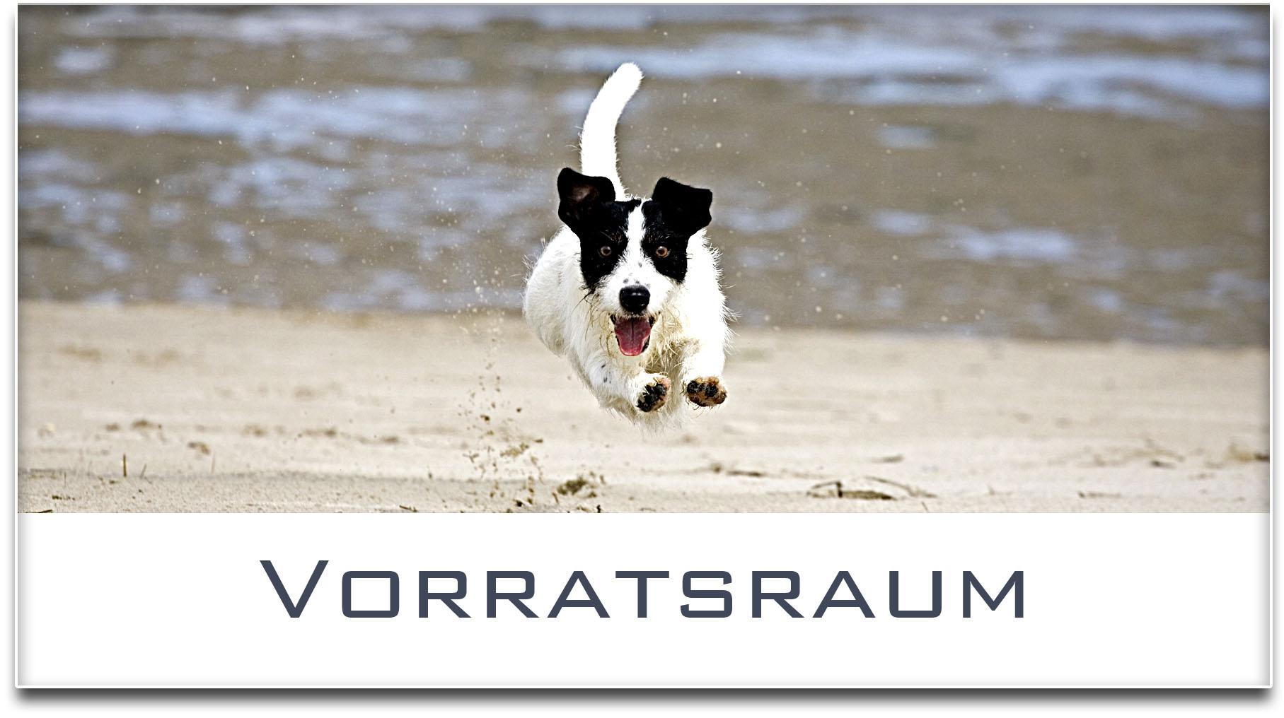 Türschild / Jack Russel Terrier / Hund / Vorratsraum / Selbstklebend