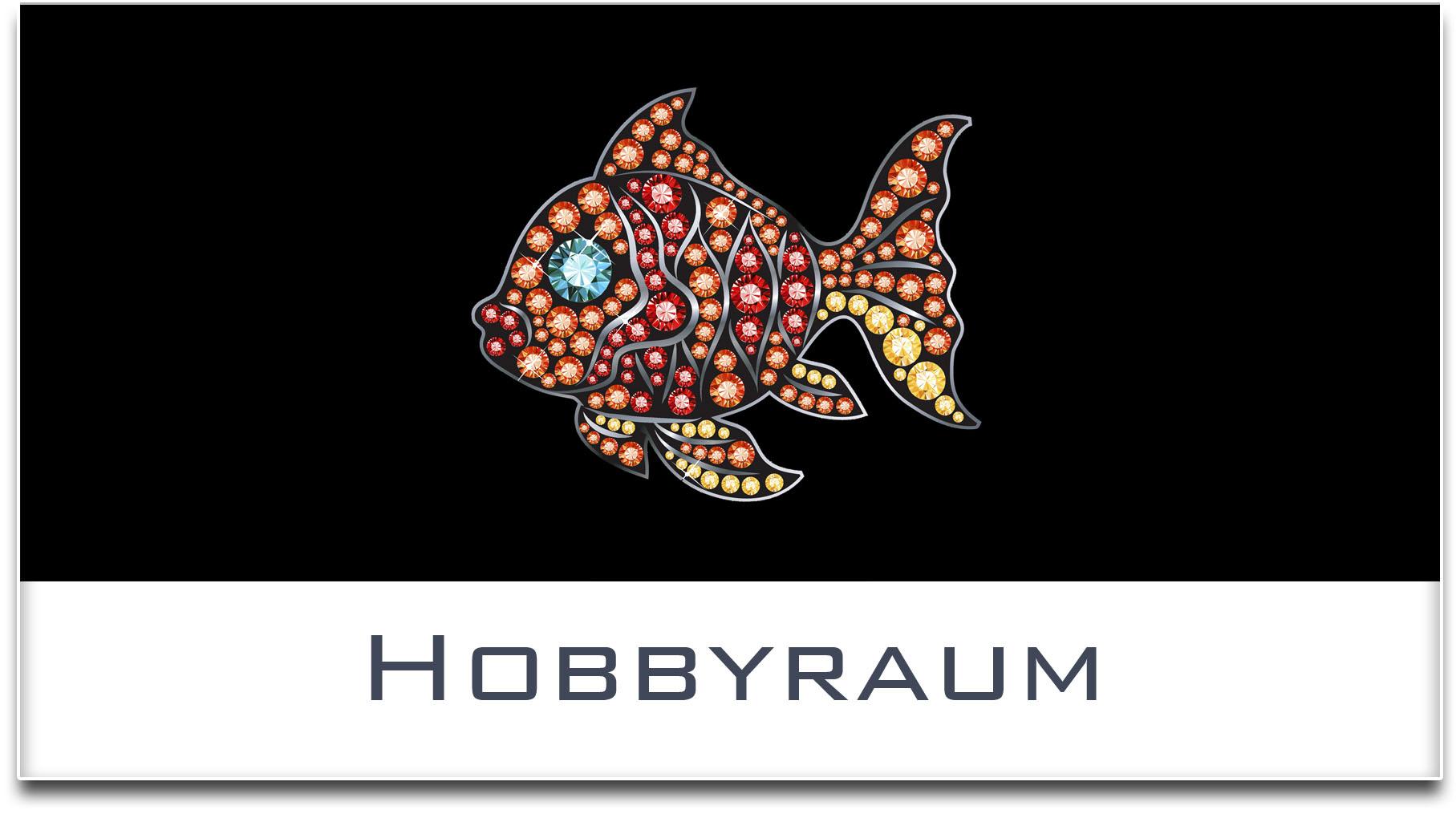 Türschild / Haustürschild / Fisch / Hobbyraum / Selbstklebend
