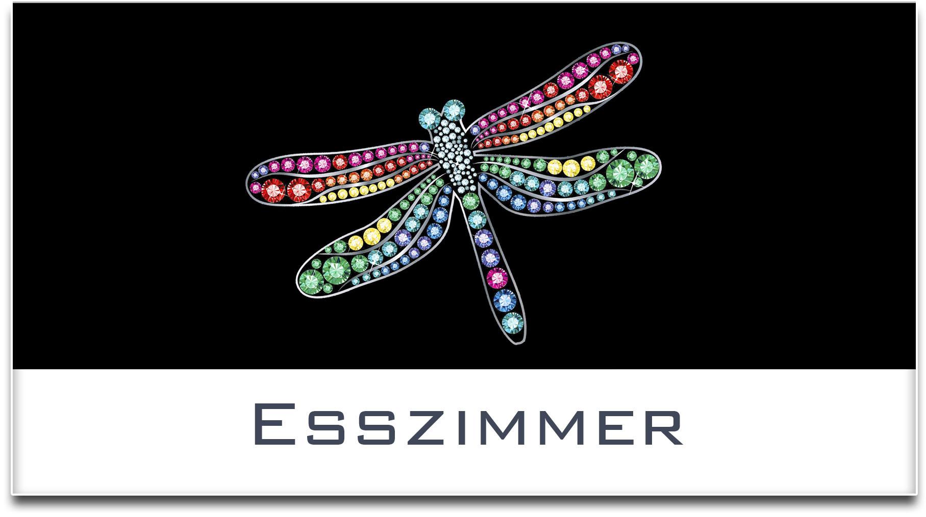 Türschild / Haustürschild / Libelle / Esszimmer / Selbstklebend