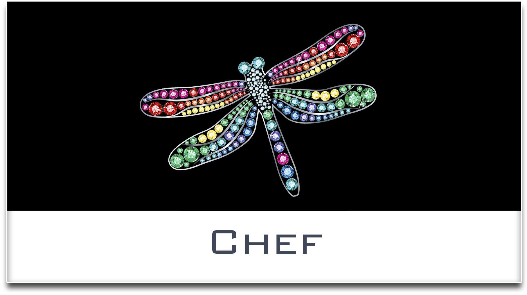 Türschild / Haustürschild / Libelle / Chef / Selbstklebend