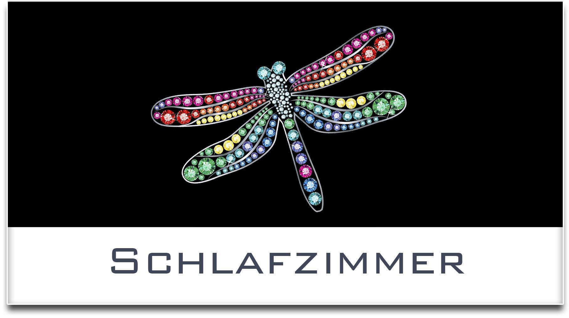 Türschild / Haustürschild / Libelle / Schlafzimmer / Selbstklebend