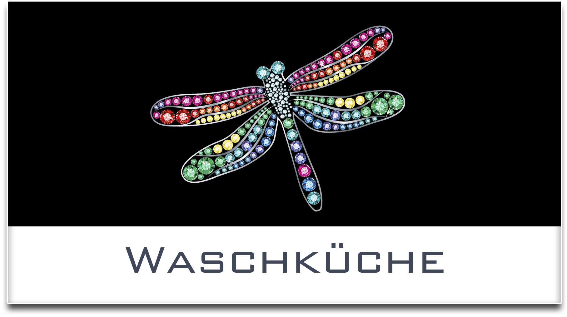 Türschild / Haustürschild / Libelle / Waschküche / Selbstklebend