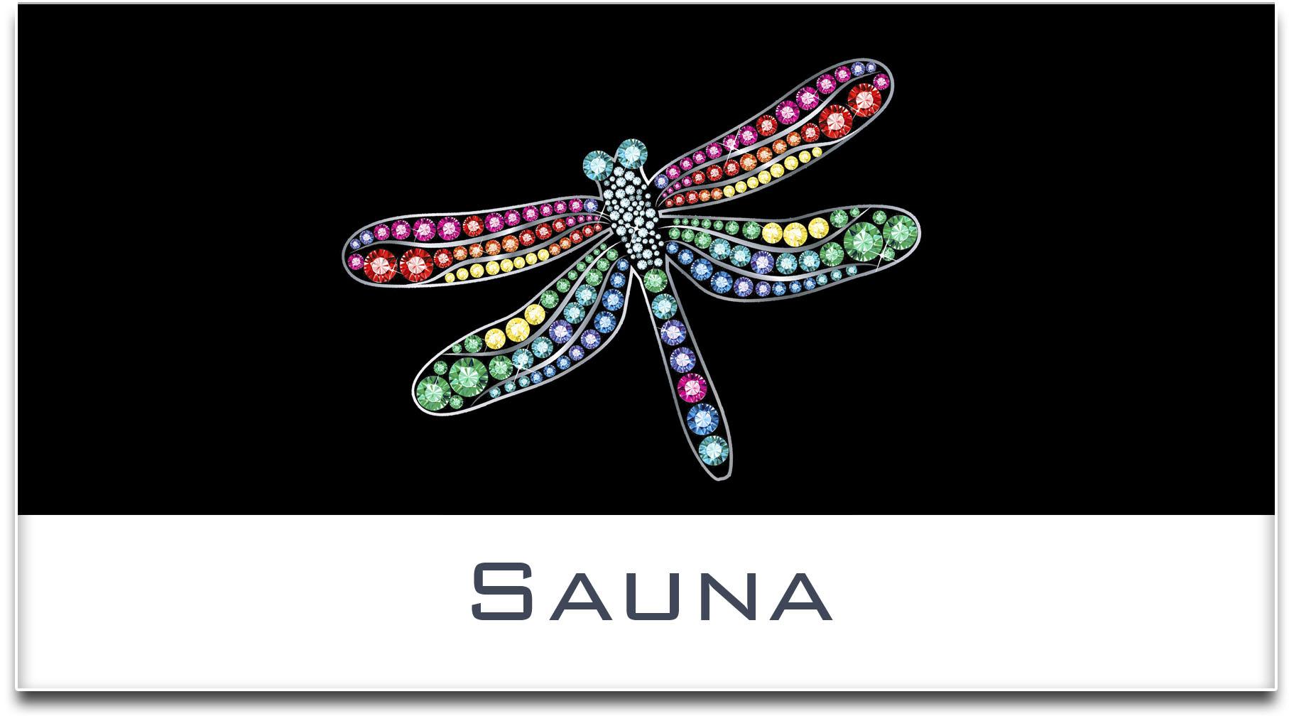 Türschild / Haustürschild / Libelle / Sauna / Selbstklebend