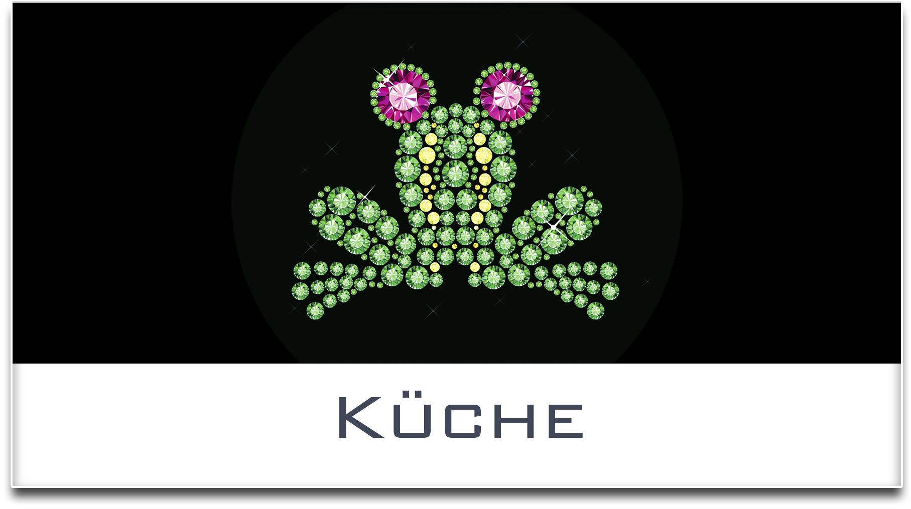 Türschild / Haustürschild / Frosch / Küche / Selbstklebend