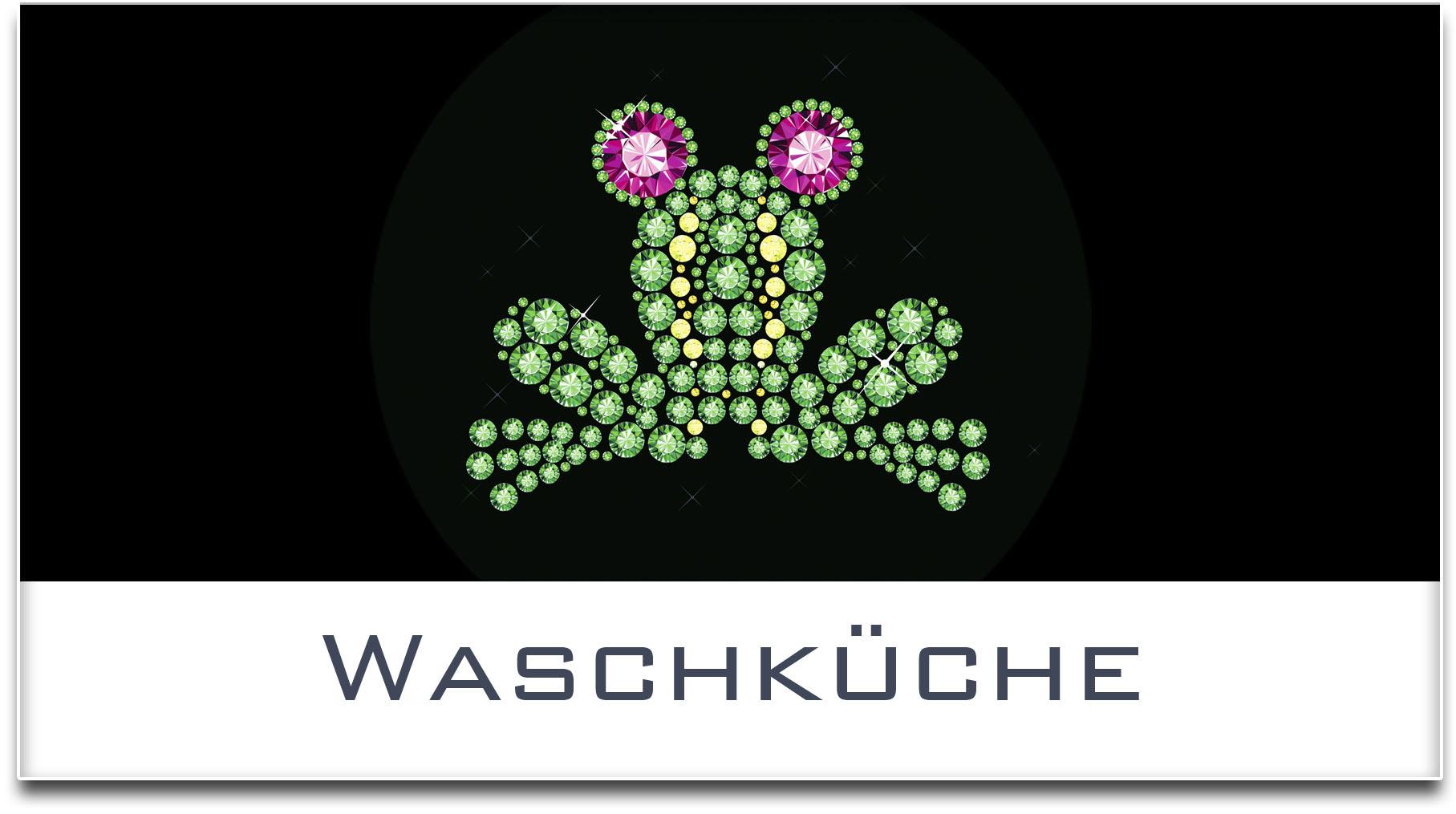 Türschild / Haustürschild / Frosch / Waschküche / Selbstklebend