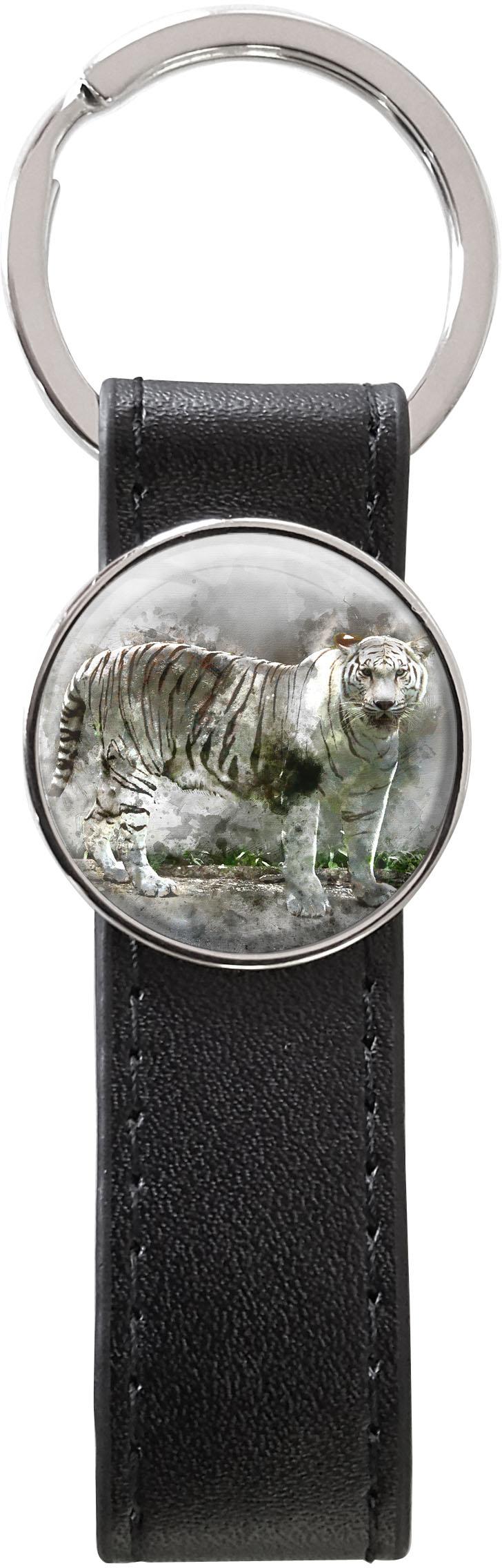 Schlüsselanhänger PU - Leder / Tiger / Raubtiere / Wildkatzen