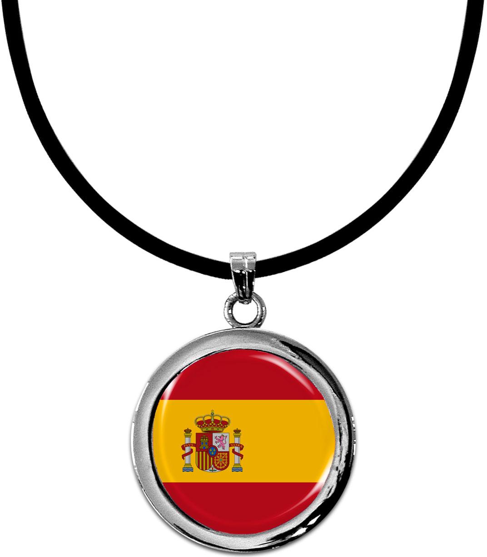 Kettenanhänger / Spanien / Silikonband mit Silberverschluss