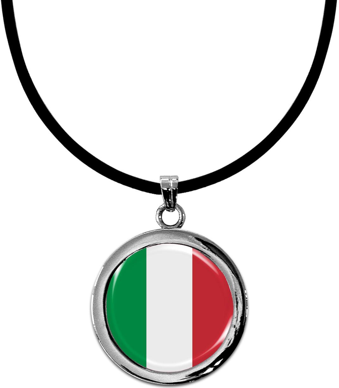 Kettenanhänger / Italien / Silikonband mit Silberverschluss