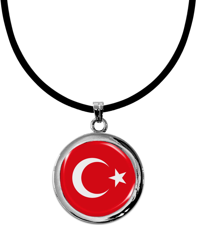 Kettenanhänger / Türkei / Silikonband mit Silberverschluss