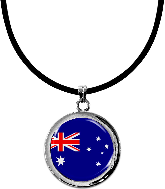 Kettenanhänger / Australien / Silikonband mit Silberverschluss
