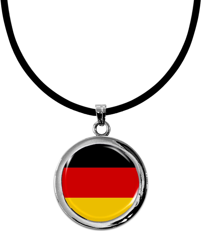 Kettenanhänger / Deutschland / Silikonband mit Silberverschluss