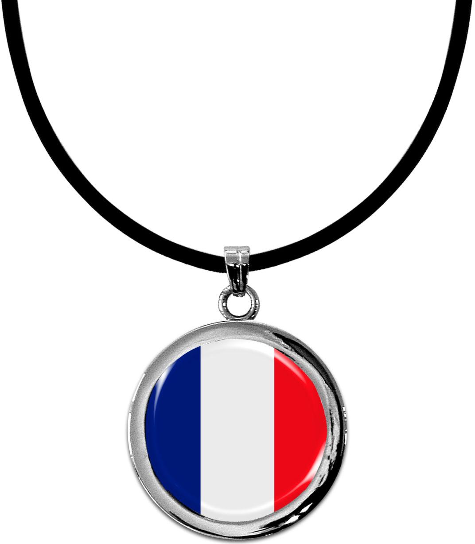 Kettenanhänger / Frankreich / Silikonband mit Silberverschluss