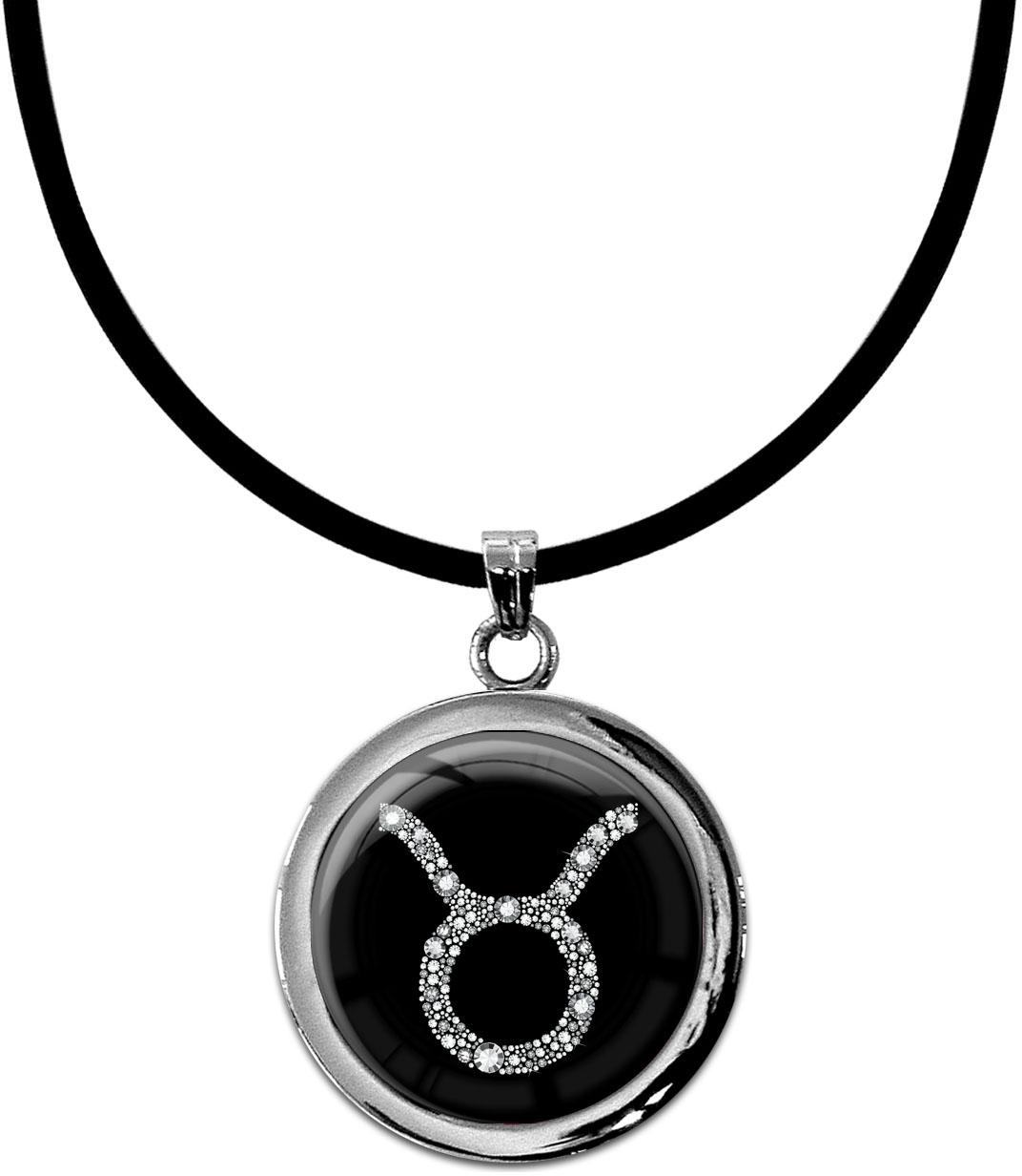 """metALUm Kettenanhänger in runder Form """"Sternzeichen Stier in Silber"""""""