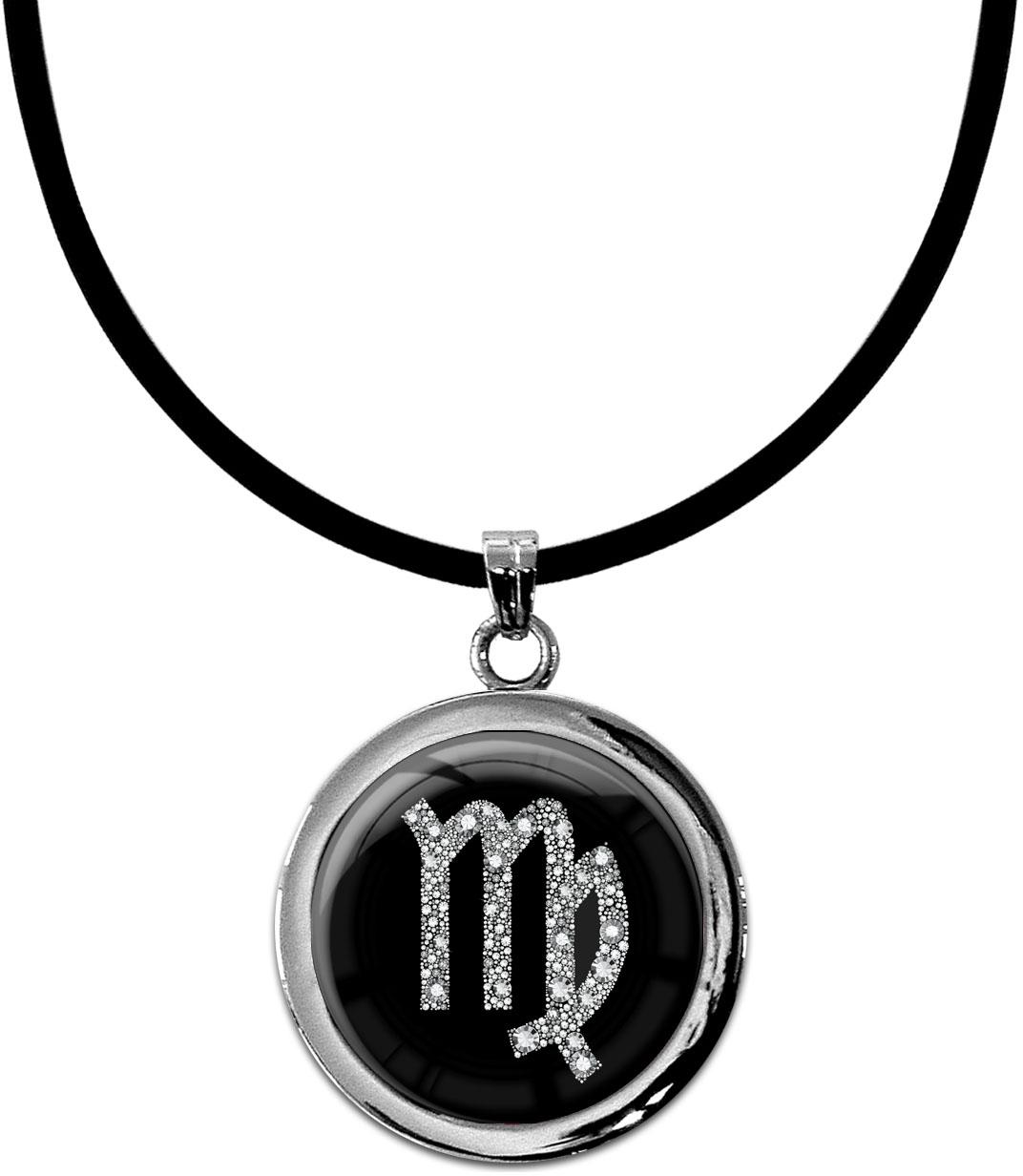 """metALUm Kettenanhänger in runder Form """"Sternzeichen Jungfrau in Silber"""""""