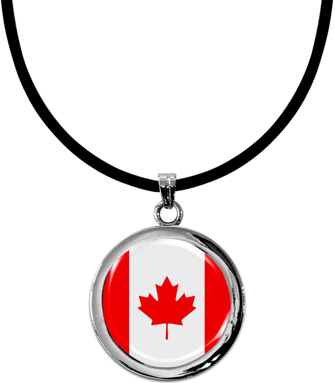 Kettenanhänger / Kanada / Silikonband mit Silberverschluss