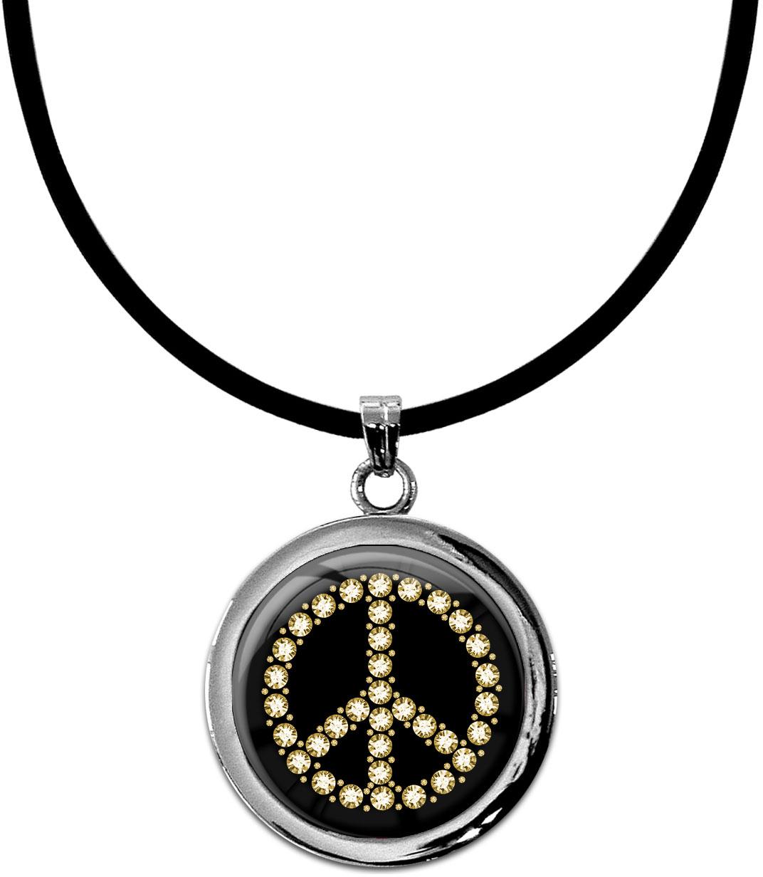 """metALUm Kettenanhänger in runder Form """"Peace Symbol"""""""