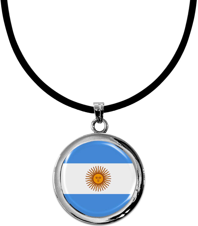 Kettenanhänger / Argentinien / Silikonband mit Silberverschluss