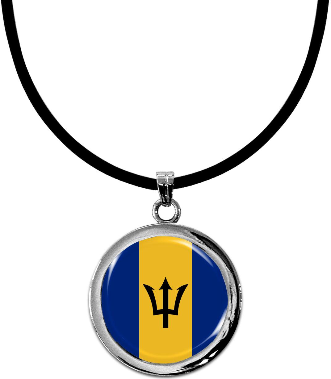 Kettenanhänger / Barbados / Silikonband mit Silberverschluss