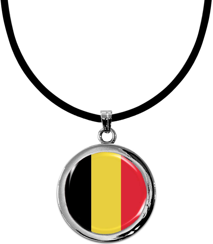 Kettenanhänger / Belgien / Silikonband mit Silberverschluss