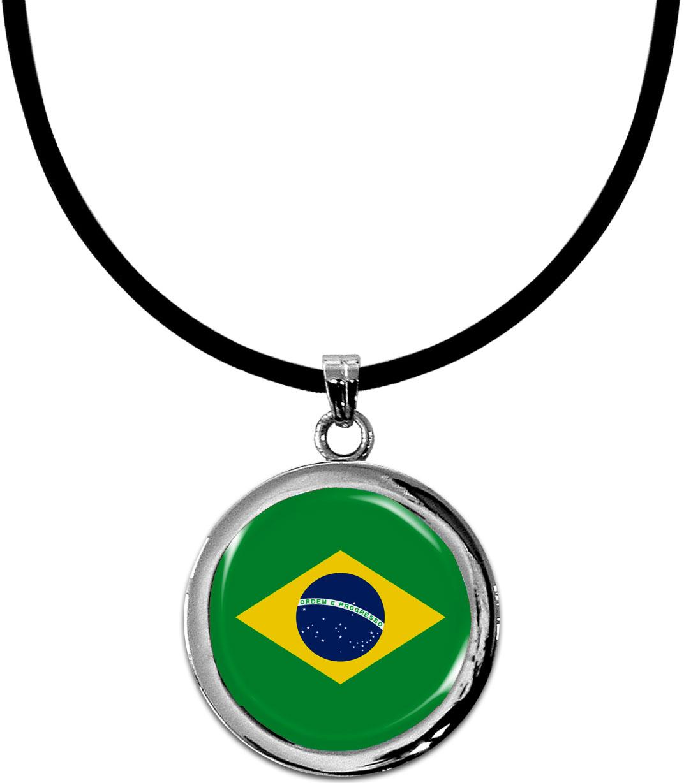 Kettenanhänger / Brasilien / Silikonband mit Silberverschluss