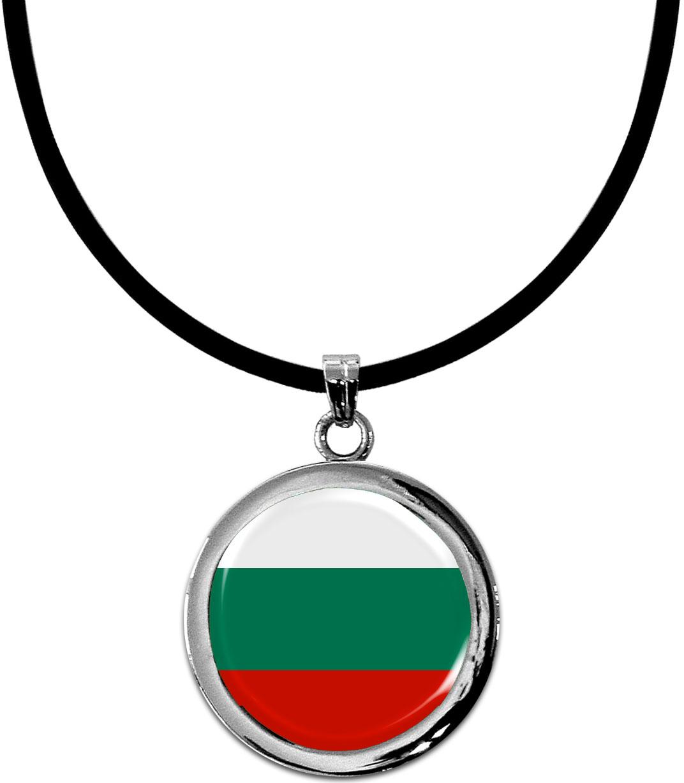 Kettenanhänger / Bulgarien / Silikonband mit Silberverschluss