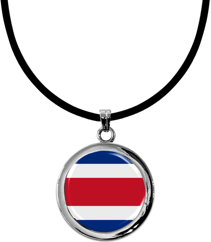 Kettenanhänger / Costa Rica / Silikonband mit Silberverschluss