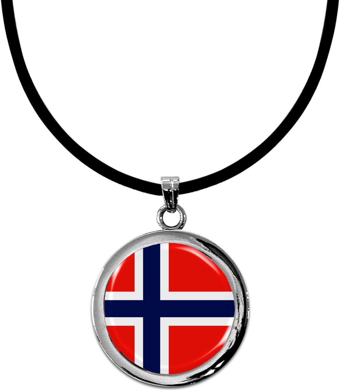 Kettenanhänger / Norwegen / Silikonband mit Silberverschluss
