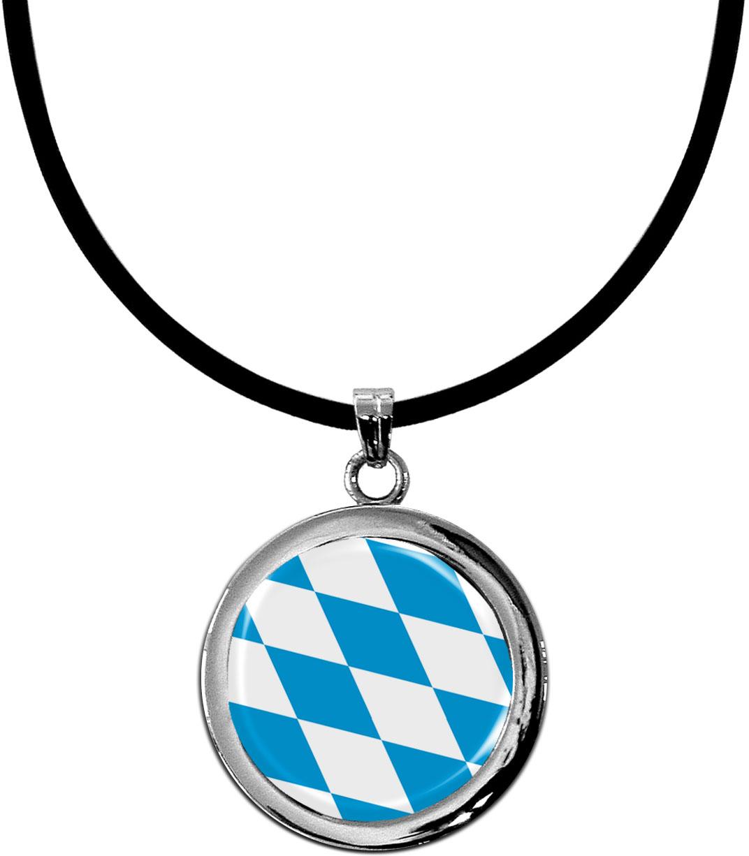 Kettenanhänger / Bayern / Silikonband mit Silberverschluss