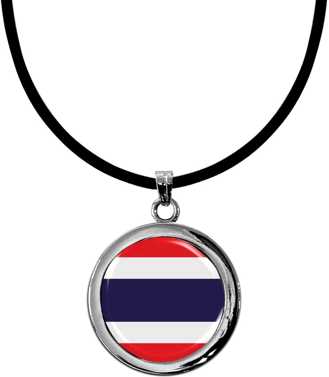 Kettenanhänger / Thailand / Silikonband mit Silberverschluss