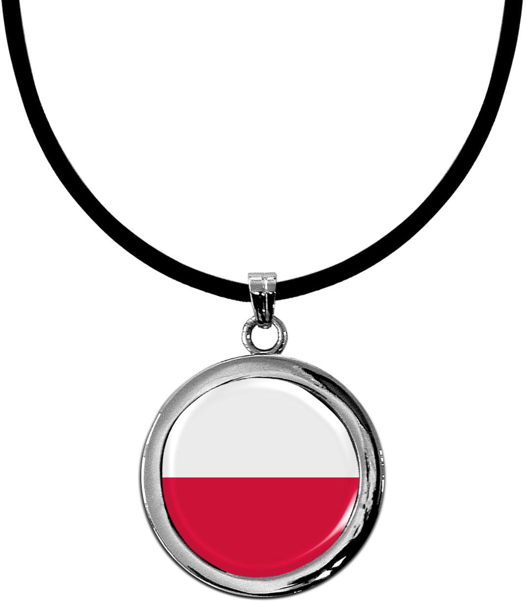 Kettenanhänger / Polen / Silikonband mit Silberverschluss