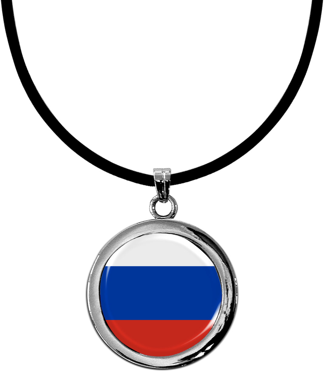 Kettenanhänger / Russland / Silikonband mit Silberverschluss