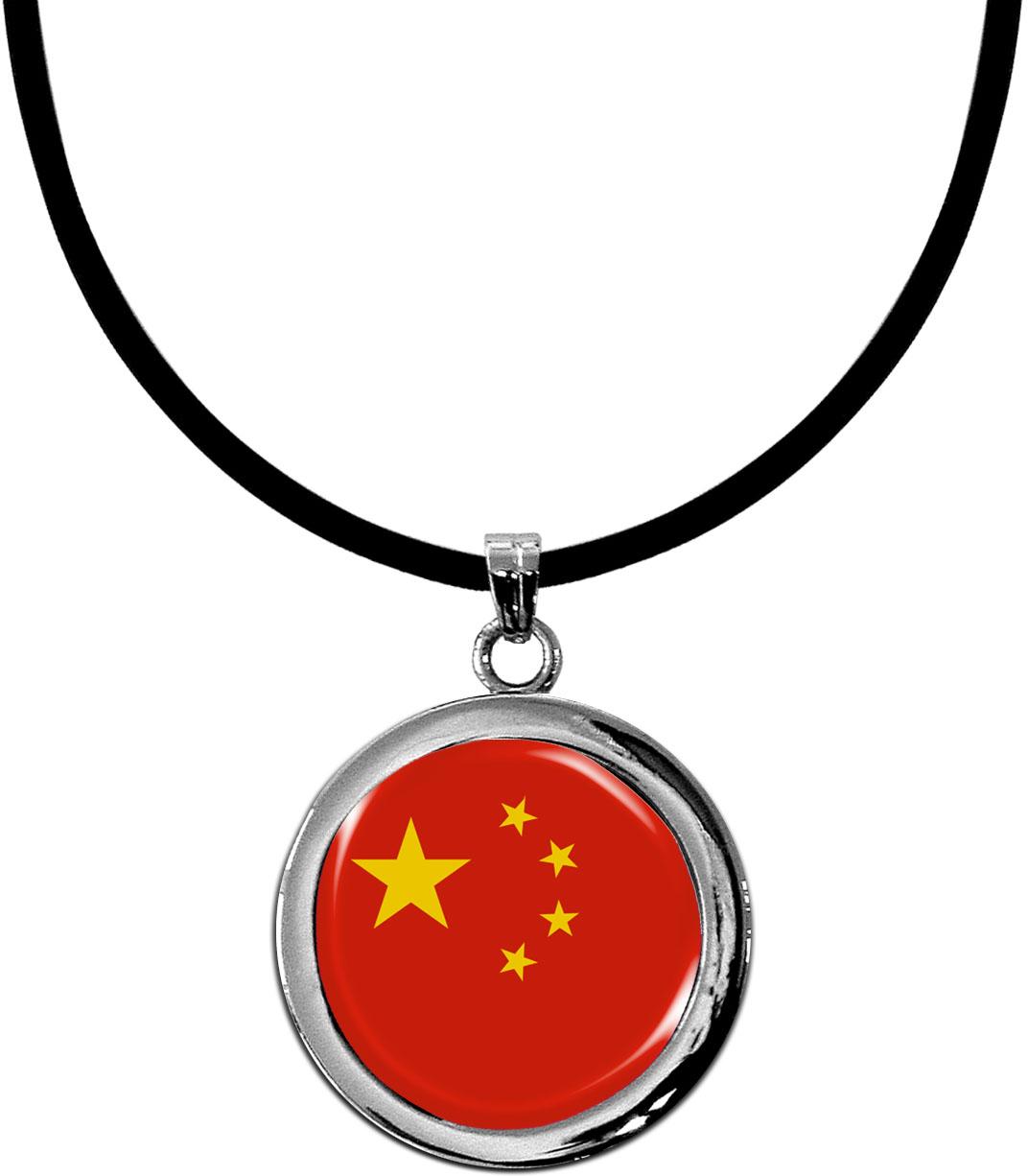 Kettenanhänger / China / Silikonband mit Silberverschluss