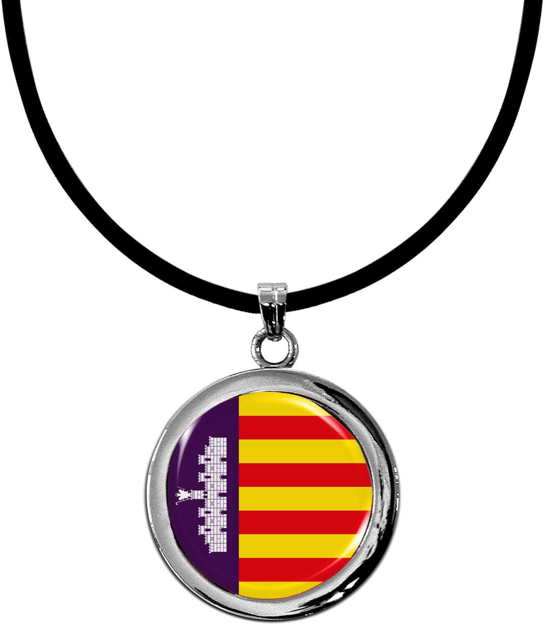 Kettenanhänger / Mallorca / Silikonband mit Silberverschluss
