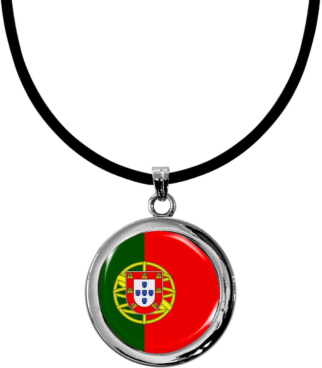 Kettenanhänger / Portugal / Silikonband mit Silberverschluss