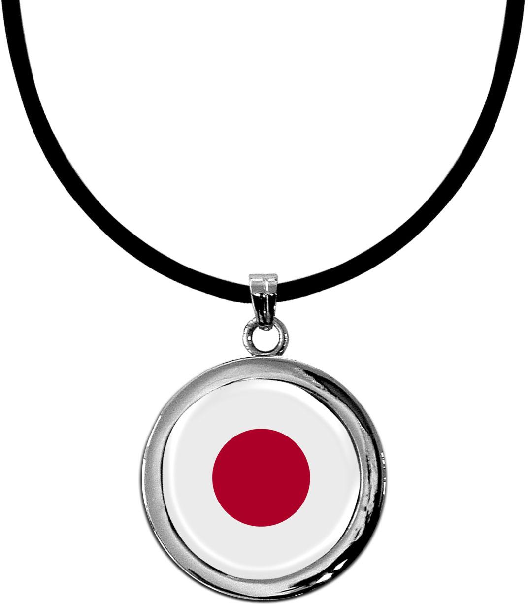Kettenanhänger / Japan / Silikonband mit Silberverschluss