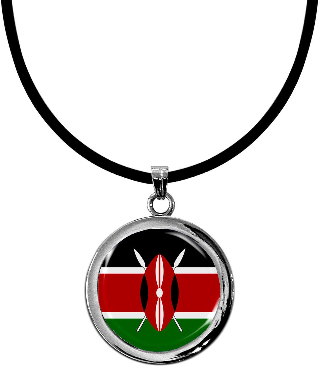 Kettenanhänger / Kenia / Silikonband mit Silberverschluss