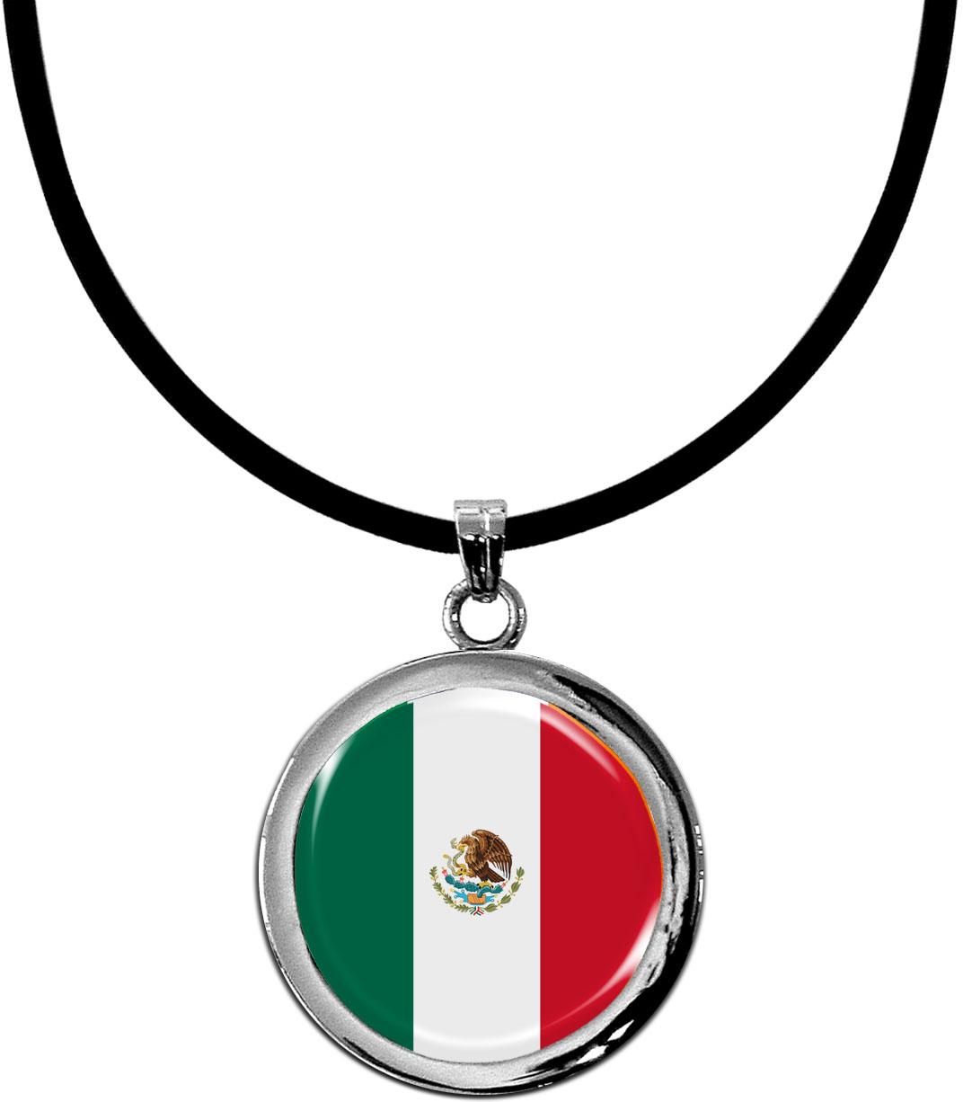 Kettenanhänger / Mexiko / Silikonband mit Silberverschluss